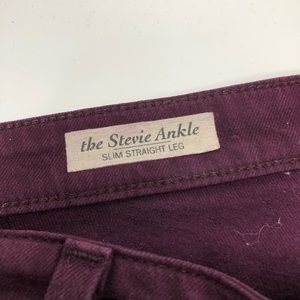 Ag Adriano Goldschmied Jeans - AG Stevie ankle maroon jeans
